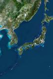 Satellite Image of Japan Photographic Print