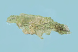 Jamaica, Relief Map Photographic Print