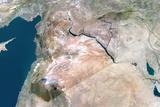 Satellite Image of Syria Photographic Print