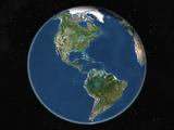 Satellite Image of the Americas Photographic Print
