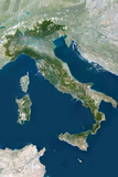 Satellite Image of Italy Photographic Print
