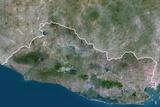 Satellite Image of El Salvador Photographic Print