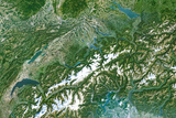 Satellite Image of Switzerland Photographic Print
