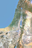 Israel, Satellite Image with Bump Effect, with Border Photographic Print