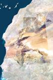 Satellite Image of Mauritania Photographic Print