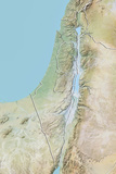 Israel, Relief Map with Border Photographic Print
