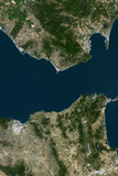 Satellite Image of Tangier, Morocco Photographic Print