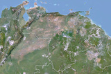 Venezuela, Satellite Image with Bump Effect, with Border Photographic Print