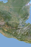 Guatemala, Satellite Image with Bump Effect, with Border Lámina fotográfica