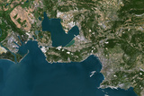 Satellite Image of Marseille, France Photographic Print
