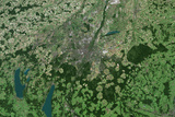Satellite Image of Munich Photographic Print