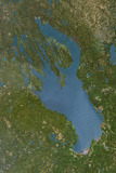 Satellite Image of Lake Onega, Russia Photographic Print