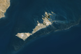 Satellite Image of Kerkennah Islands, Tunisia Stampa fotografica