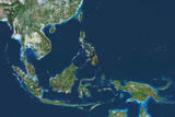Satellite Image of Southeast Asia Reproduction photographique