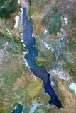 Satellite Image of Lake Tanganyika, Africa Photographic Print