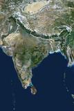 Satellite Image of India Photographic Print