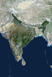 Satellite Image of India Photographic Print