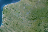 Satellite Image of Nord - Pas-De-Calais Region, France Photographic Print