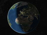 Satellite Image of Europe and Africa Photographic Print