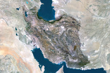 Satellite Image of Iran Photographic Print