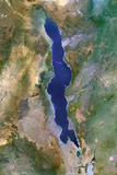 Satellite Image of Lake Malawi, Africa Photographic Print