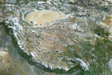 Satellite Image of Tibet Photographic Print