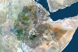 Satellite Image of Ethiopia Photographic Print