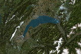 Satellite Image of Lake Leman, Europe Photographic Print