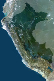 Satellite Image of Peru Photographic Print