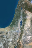 Israel, True Colour Satellite Image with Border Photographic Print