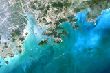 Satellite Image of Hong Kong and Macao Photographic Print
