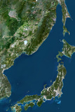 Satellite Image of Sea of Japan Photographic Print