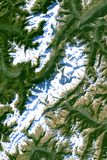 Satellite Image of Chamonix-Mont Blanc, France Photographic Print