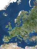 Satellite Image of Europe Photographic Print