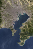Satellite Image of Tokyo Reproduction photographique