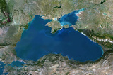Satellite Image of Black Sea Photographic Print