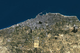 Satellite Image of Tripoli, Libya Photographic Print