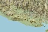 El Salvador, Relief Map with Border Photographic Print