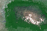 Satellite Image of Kilimandjaro, Tanzania Photographic Print