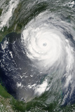 Satellite Image of Hurricane Katrina, Louisiana, US, on 28/08/2005 Photographic Print