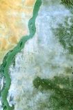 Satellite Image of White Nile, Sudan Photographic Print