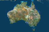 Australia, True Colour Satellite Image Photographic Print