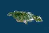 Satellite Image of Jamaica Photographic Print
