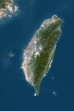 Taiwan, True Colour Satellite Image Photographic Print
