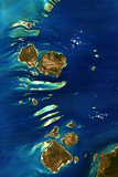 Satellite Image of Torres Detroit and Banks Islands, Australia Photographic Print