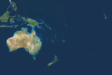 Satellite Image of Oceania Photographic Print