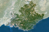 Satellite Image of Provence-Alpes-Côte D'Azur Region, France Photographic Print