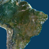 Satellite Image of Brazil Photographic Print