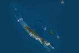 Satellite Image of New Caledonia Photographic Print