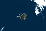 Satellite Image of Nauru Photographic Print